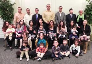 """Participants in a 2014 parent workshop, """"Raising Children for God"""""""