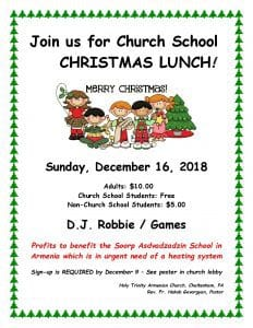 thumbnail of FLYER Christmas Lunch 2018
